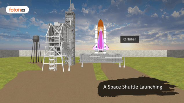 Virtual tour 1 A Space Shuttle Launching