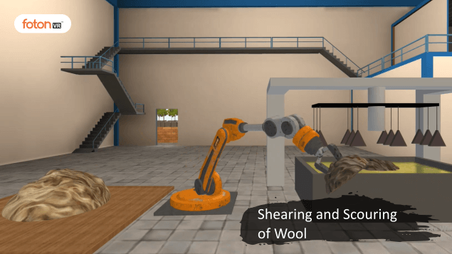Virtual tour 1 Shearing and Scouring of Wool