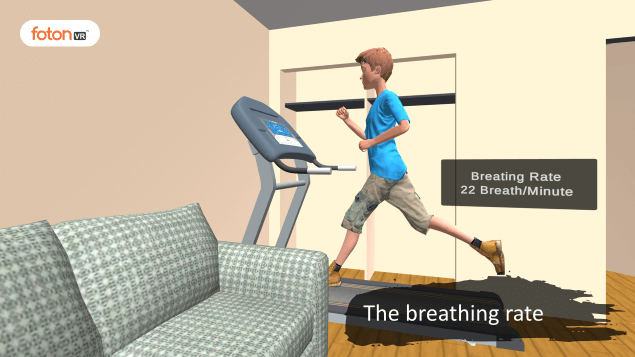 Virtual tour 1 The breathing rate