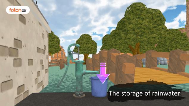 Virtual tour 1 The storage of rainwater
