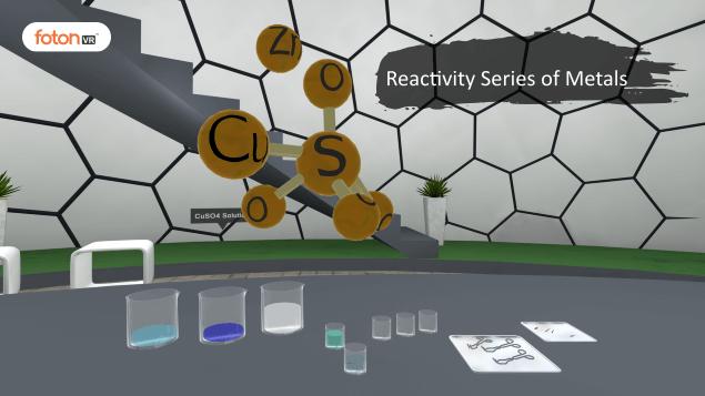 Virtual tour 10 Reactivity Series of Metals