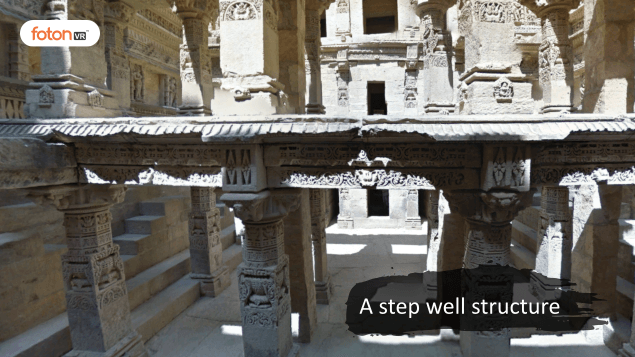 Virtual tour 2 A step well structure