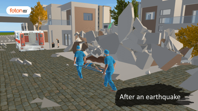 Virtual tour 2 After an earthquake