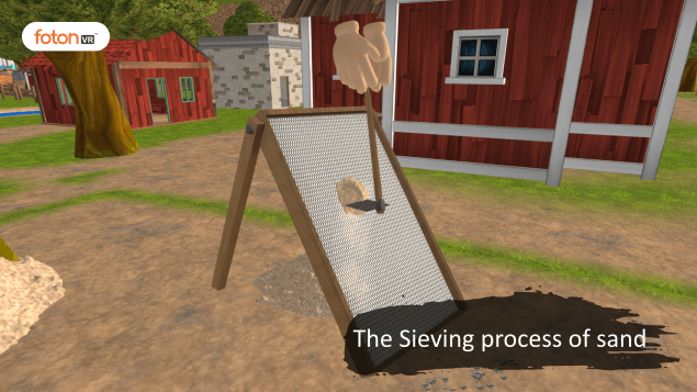 Virtual tour 2 The Sieving process of sand