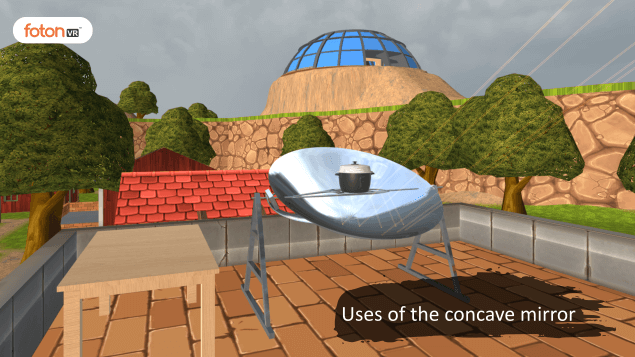 Virtual tour 2 Uses of the concave mirror