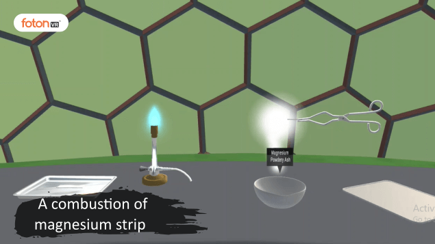 Virtual tour 3 A combustion of magnesium strip
