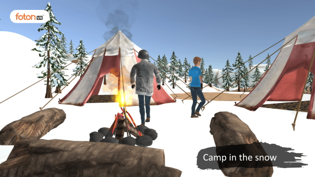 Virtual tour 3 Camp in the snow