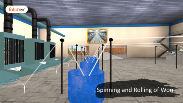 Virtual tour 3 Spinning and Rolling of Wool