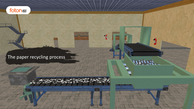 Virtual tour 3 The paper recycling process