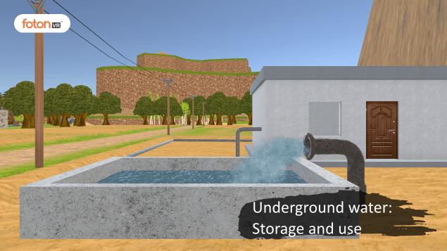 Virtual tour 3 Underground water Storage and use