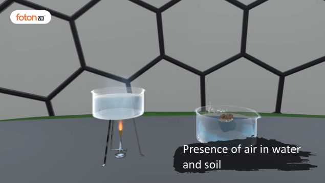 Virtual tour 4 Presence of air in water and soil