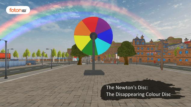 Virtual tour 4 The Newton's Disc The Disappearing Colour Disc