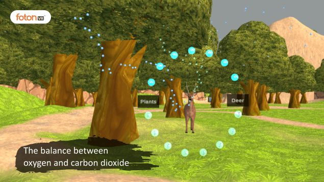 Virtual tour 4 The balance between oxygen and carbon dioxide