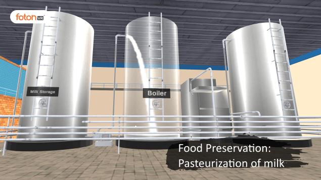Virtual tour 5 Food Preservation Pasteurization of milk