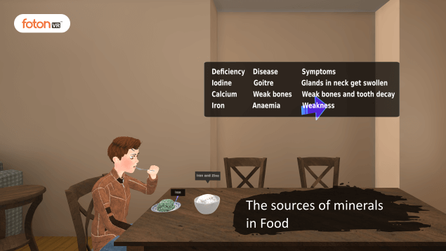 Virtual tour 5 The sources of minerals in Food