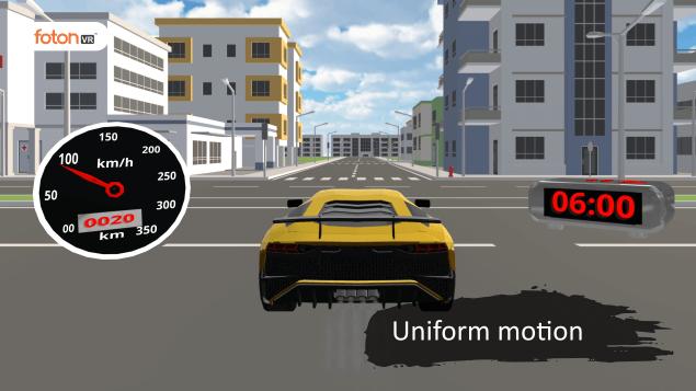 Virtual tour 5 Uniform motion