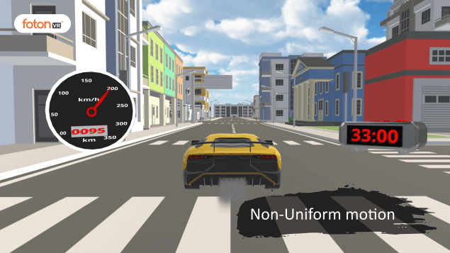 Virtual tour 6 Non-Uniform motion