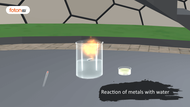 Virtual tour 7 Reaction of metals with water