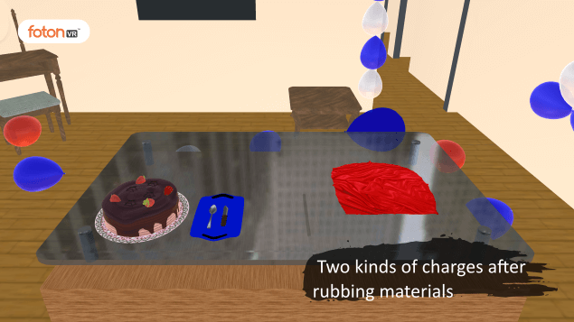 Virtual tour 1 Two kinds of charges after rubbing materials