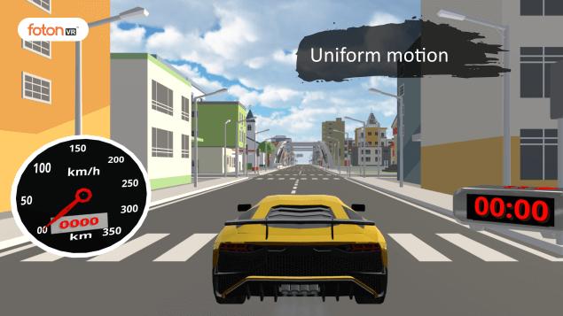 Virtual tour 1 Uniform motion
