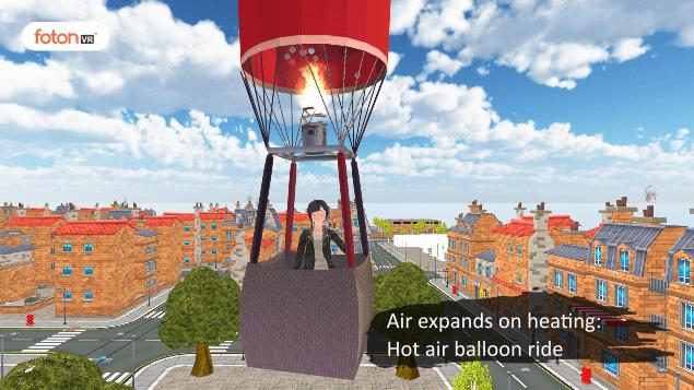 Virtual tour 2 Air expands on heating Hot air balloon ride