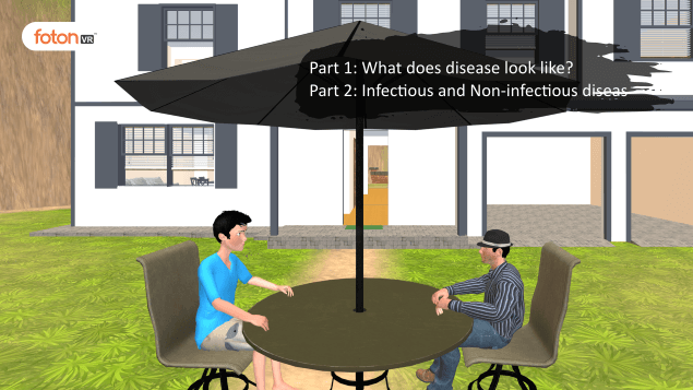 Virtual tour 2 What does disease look like Infectious and Non-infectious disease