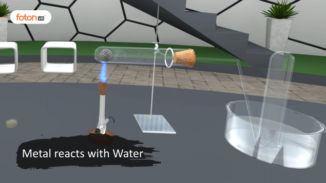 Virtual tour 4 Metal reacts with Water