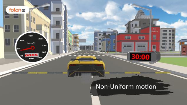 Virtual tour 4 Non-Uniform motion