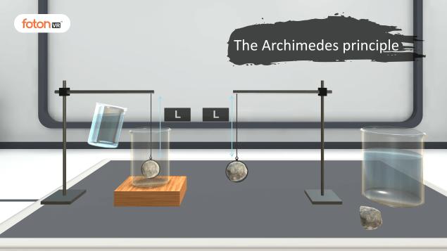 Virtual tour 5 The Archimedes principle