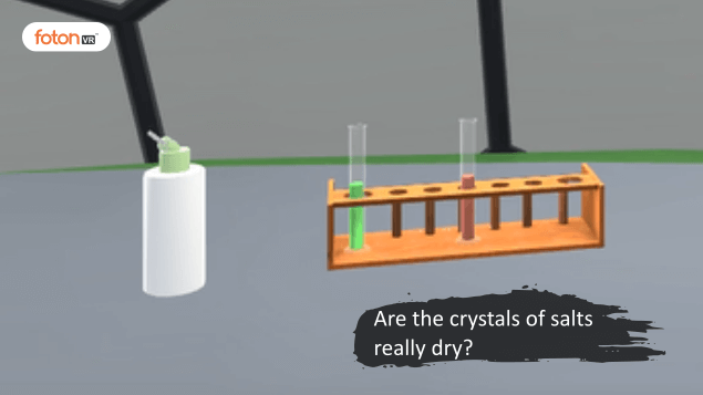 Virtual tour 6 Are the crystals of salts really dry