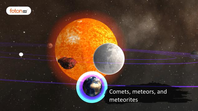 Virtual tour 7 Comets, meteors, and meteorites