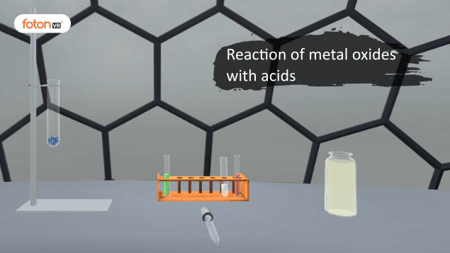 Virtual tour 7 Reaction of metal oxides with acids