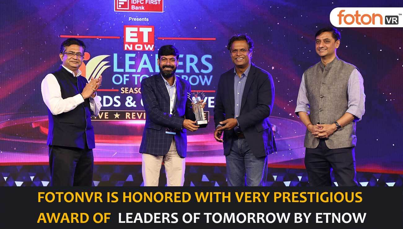 fotonVR is awarded as Leaders of Tomorrow for Edtech and Skill Development by ET NOW