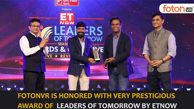 fotonVR is honored with very prestigious award of Leaders of Tomorrow in the category of Edtech and Skill Development by ET NOW.